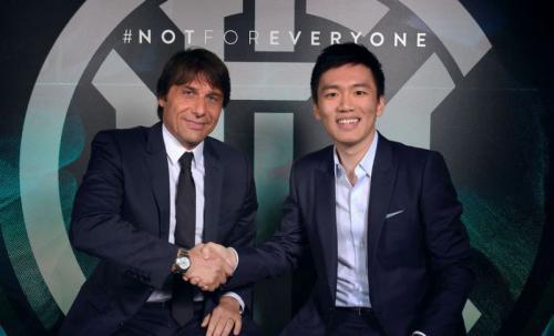 Conte bersama presiden Inter