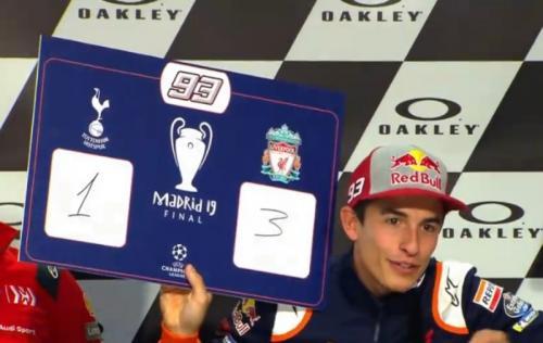 Marc Marquez yakin Liverpool menang dengan skor 3-1 (Foto: MotoGP)