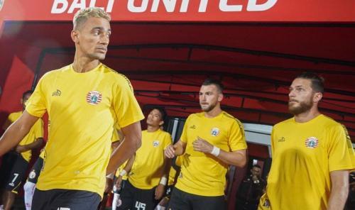 Skuad Persija Jakarta saat bertandang ke markas Bali United