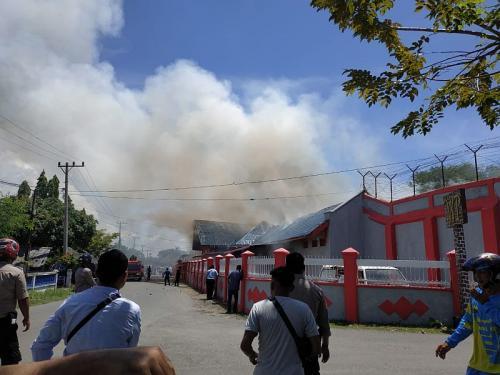 Rutan Sigli dibakar Napi (Foto: Istimewa)