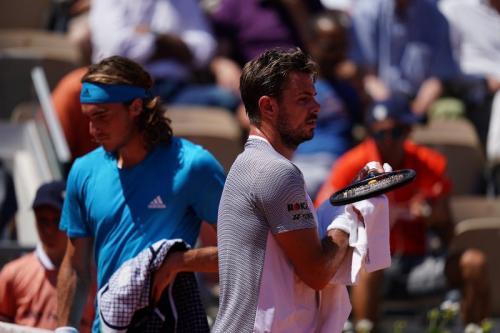 Stanislas Wawrinka vs Stefanos Tsitsipas (Foto: Roland Garros/Twitter)