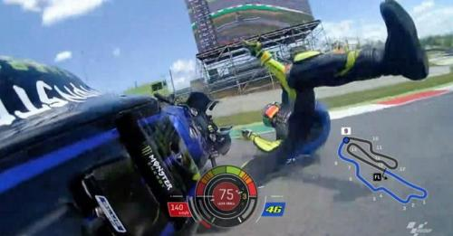 Valentino Rossi terjatuh di MotoGP Italia 2019