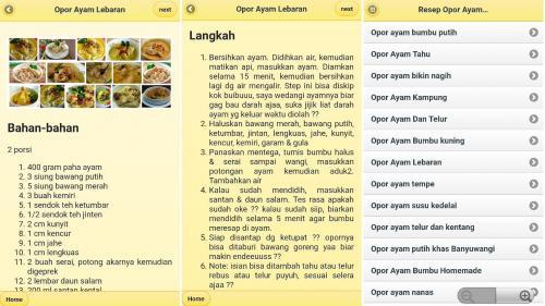 Aplikasi Ini Sajikan Resep Opor Ayam untuk Hidangan saat Lebaran
