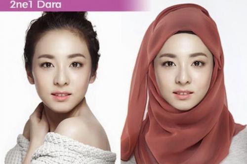 Tapi jangan salah, meski memakai hijab, wajah Dara masih terlihat cantik loh, Okezoners!