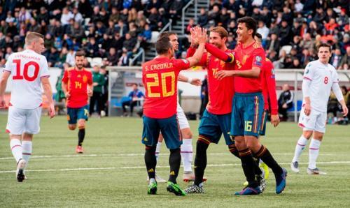 Spanyol vs Kepulauan Faroe