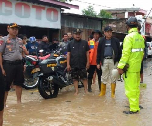 Banjir di Sidrap Sulsel. (Foto : Herman Amiruddin/Okezone)