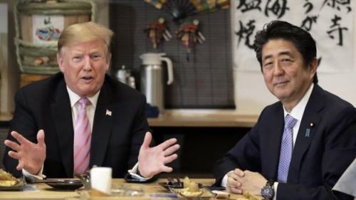 Presiden Trump bertemu dengan PM Abe awal Juni. (Getty Images)