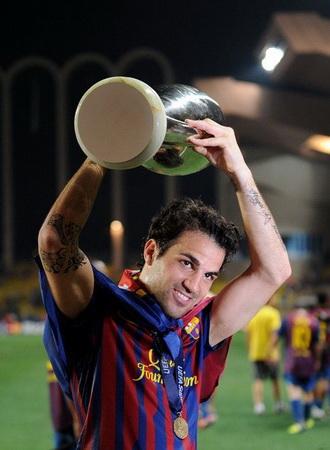 Cesc Fabregas saat memperkuat Barcelona