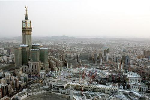Tower Zamzam saat siang hari