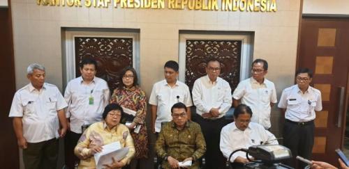 Rapat Tingkat Menteri di Kantor KSP tentang Penyelesaian Konflik Agraria (foto: Ist)