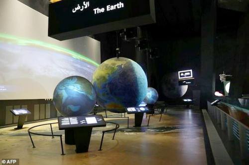 Miniatur angkasa di museum tower zamzam
