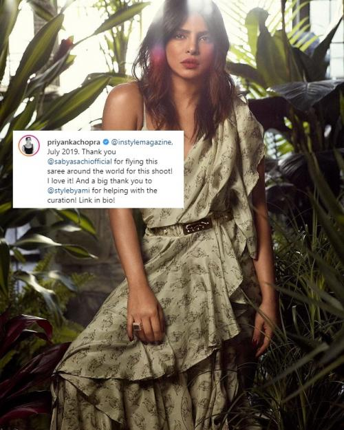 Priyanka Chopra menarik perhatian publik berkat unggahannya di Instagram. (Foto: Instagram/InStyle)