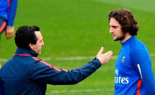 Rabiot saat masih dilatih Emery di PSG