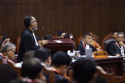 Tim Hukum BPN Prabowo-Sandi. (Foto: Heru Haryono/Okezone)