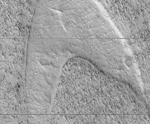 NASA ungkap foto mirip lambang Star Trek di Mars