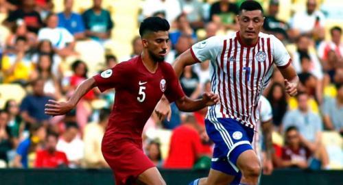 Timnas Qatar melawan Paraguay di Copa America 2019