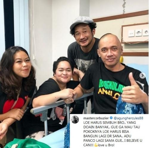 Pihak keluarga meminta RSUD Tangerang untuk tetap merahasiakan kondisi Agung Hercules saat ini. (Foto: Instagram)