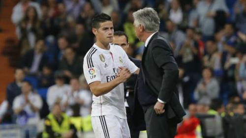 James dan Ancelotti saat masih di Madrid.