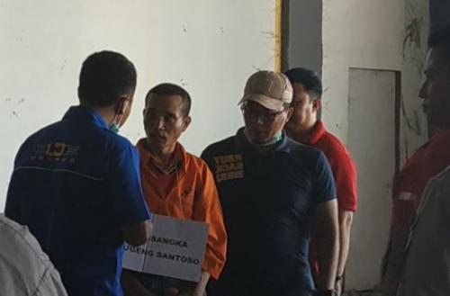Rekonstruksi Adegan Mutilasi di Pasar Besar Malang, Jawa Timur (foto: Avirista Midaada/Okezone)
