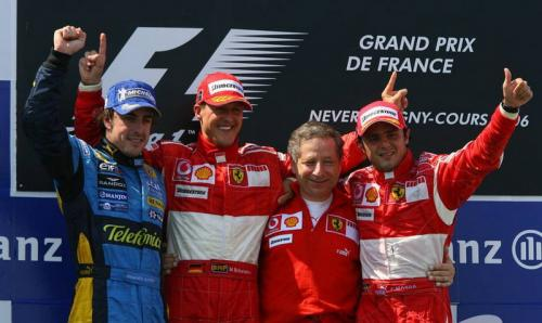 Perayaan di podium F1