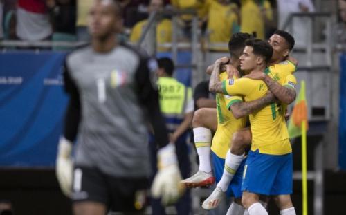 Timnas Brasil saat hadapi Venezuela di fase grup Copa America 2019