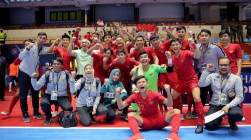 Kemeriahan Timnas Futsal Indonesia U-20 di ajang Piala Asia Futsal U-20 2019
