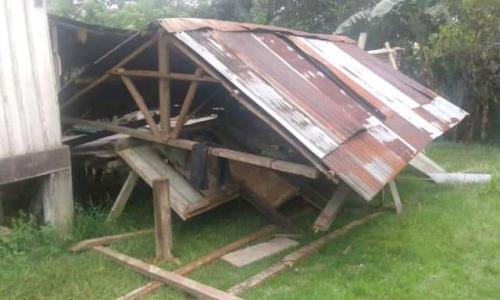 dampak kerusakan gempa di Sarmi