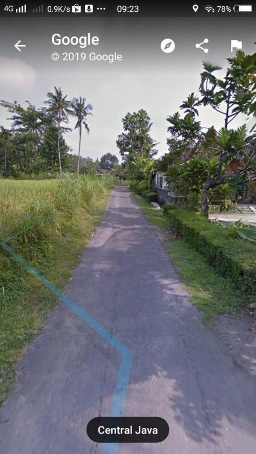 Jalan di Desa Teras yang juga sudah diaspal