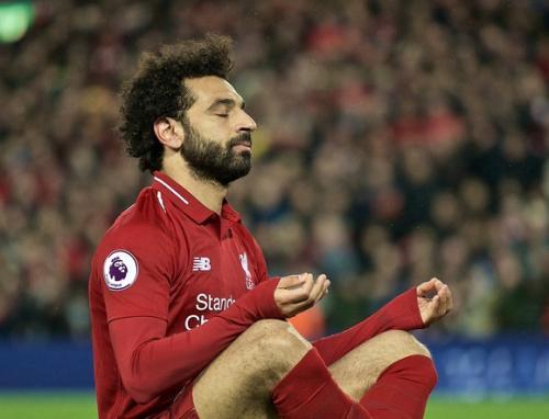 Mohamed Salah saat tampil membela Liverpool