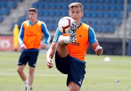 Marcos Llorente di sesi latihan bersama Madrid