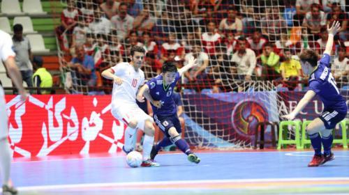 Timnas Iran saat hadapi Jepang di Piala Asia Asia Futsal U-20 2019