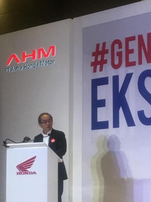 Thosiyuki Inuma saat peluncuran Honda Genio