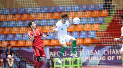 Timnas Futsal Indonesia U-20 saat hadapi Afghanistan di Piala Asia Futsal U-20