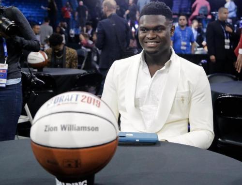 Zion Williamson mendapat sorotan paling tinggi di NBA Draft 2019 (Foto: ESPN/Twitter)