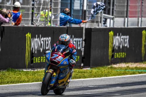 Alex Marquez saat sedang berkompetisi di Moto2