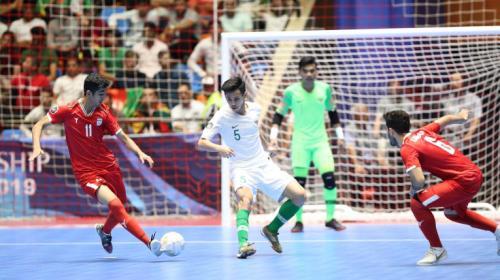 Timnas Futsal Iran U-20 melawan Indonesia