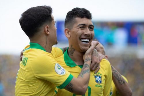 Aksi Timnas Brasil di Copa America 2019