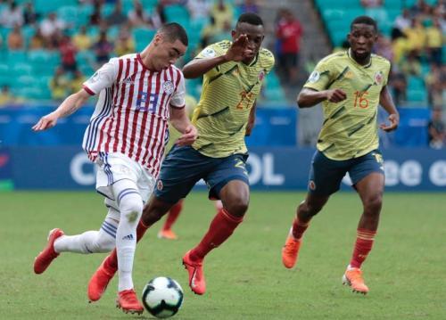 Suasana laga Timnas Kolombia vs Paraguay di Copa America 2019