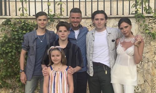 David Beckham sekeluarga