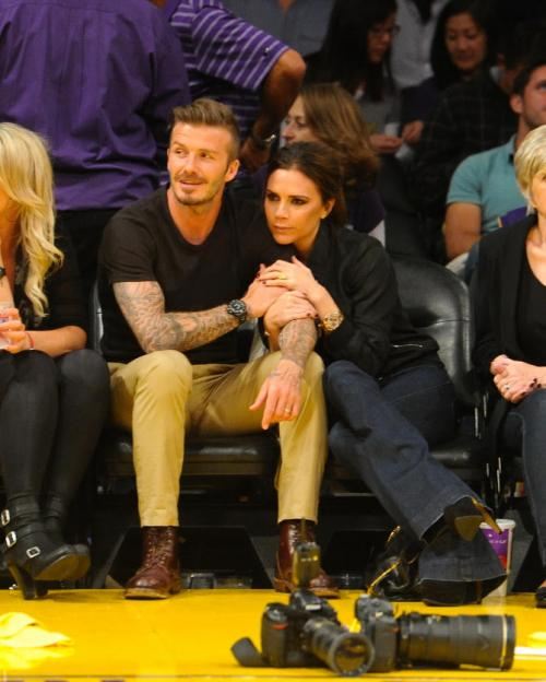 Victoria Beckham nonton LA Lakers