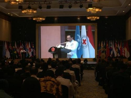Kepala Staf TNI Angkatan Laut (Kasal), Laksamana Madya (Laksdya) Siwi Sukma Adji acara 'Mempersiapkan Angkatan Bersenjata Modern untuk Misi Pemeliharaan Perdamaian di Abad ke-21' di Jakarta, (Foto : Fadel Prayoga/Okezone)