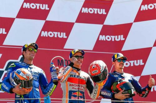 Podium MotoGP Belanda 2018