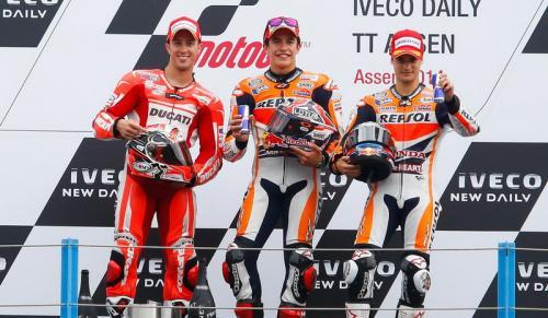 Podium MotoGP Belanda 2014