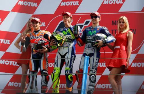 Podium MotoGP Belanda 2015