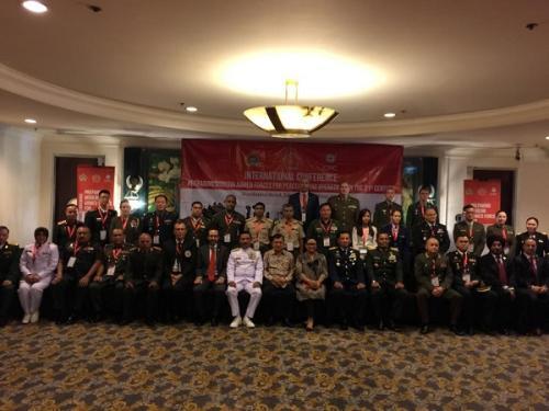 JK saat menghadiri acara pembukaan Mempersiapkan Angkatan Bersenjata Modern untuk Misi Pemeliharaan Perdamaian di Abad ke-21' di Jakarta Pusat, Selasa (25/6/2019). (Foto : Fadel Prayoga/Okezone)