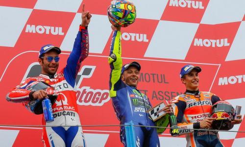 Podium MotoGP Belanda 2017