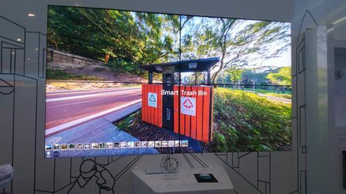 Smart Trash Bin, sesuai namanya, dipaparkan oleh Huawei dalam upaya mengampanyekan 5G
