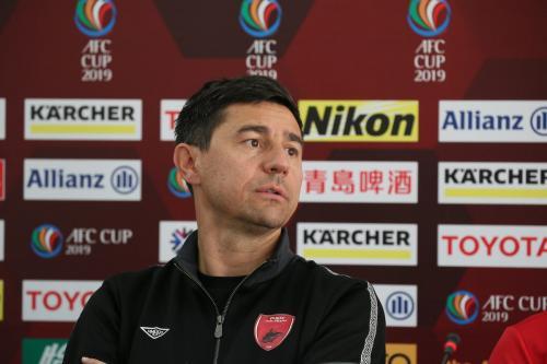 Darije Kalezic yakin anak asuhnya bisa mencetak dua gol (Foto: Fox Sports Asia)