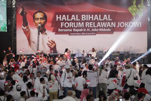 Halal bihalal relawan Jokowi