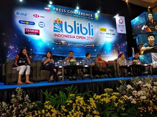 Konferensi Pers Indonesia Open 2019